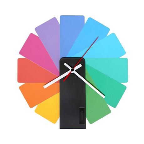 Transformer Clock // Multicolor (Black Case)