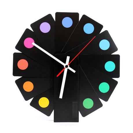 Transformer Clock // Spots // Black
