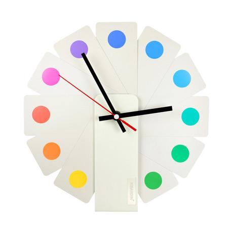 Transformer Clock // Spots // White