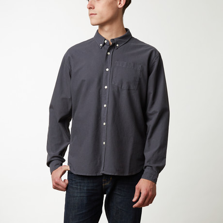 Oxford Shirt // Charcoal Gray (2XL)