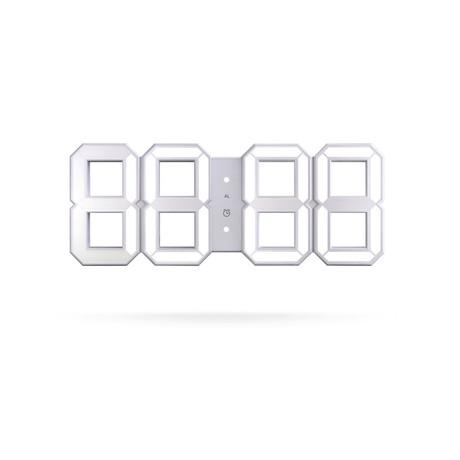 White + White Digital LED Clock // White Edition