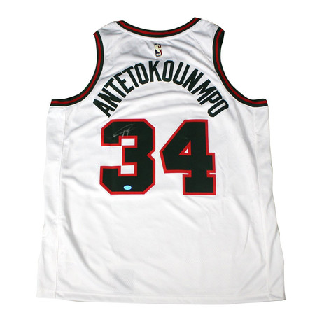 Signed Milwaukee Bucks Jersey // Giannis Antetokounmpo