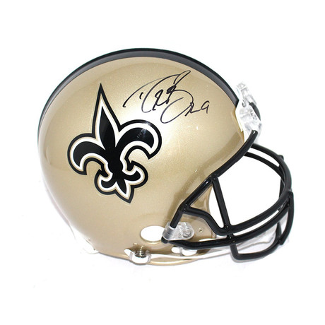 Signed New Orleans Saints Helmet // Drew Brees