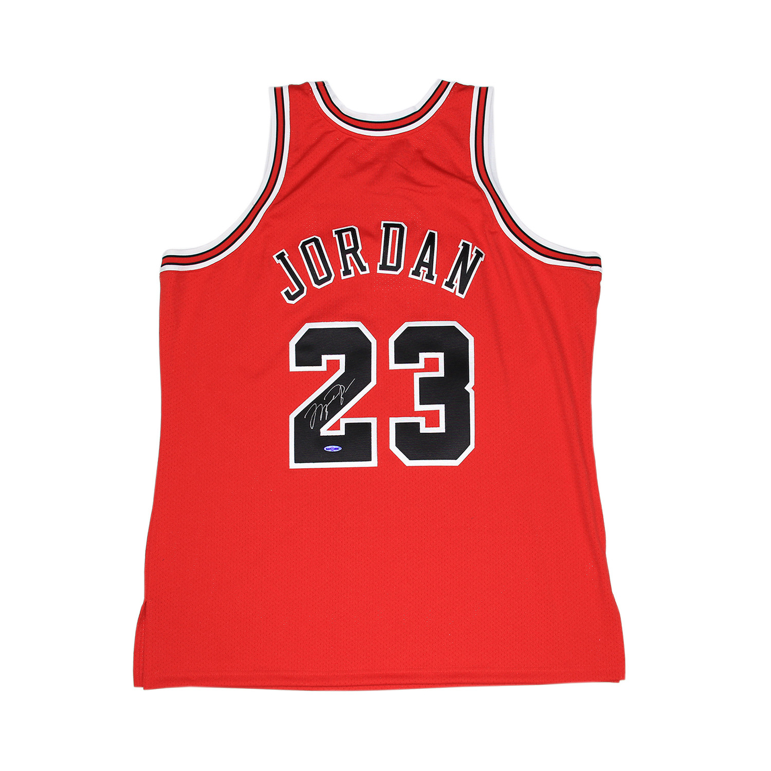 buy online fc507 a50f6 Michael Jordan Signed Chicago Bulls Jersey - Clearance: Just ...
