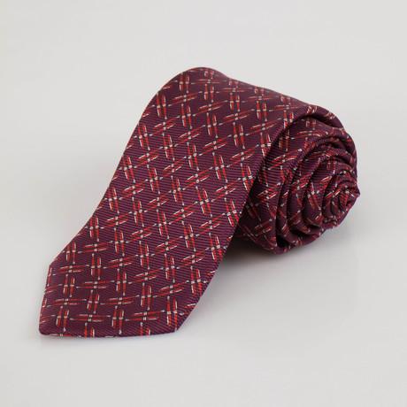 Ermenegildo Zegna // Patterned Silk Neck Tie // Burgundy