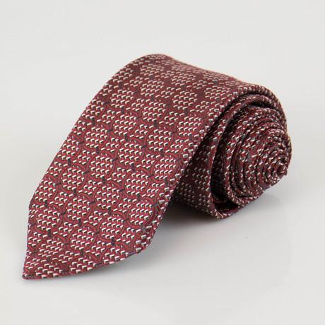 Ermenegildo Zegna // Patterned Silk Neck Tie // Red