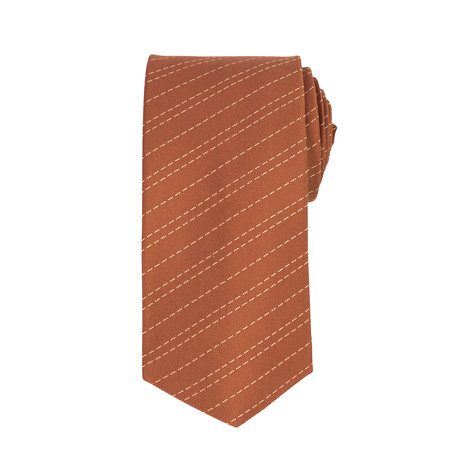 John Lobb // Vincent Striped Twin-Stitch Silk Tie