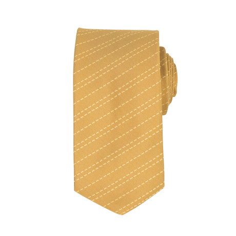 John Lobb // Lewis Striped Twin-Stitch Silk Tie
