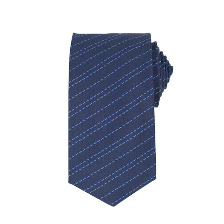 John Lobb // Evan Striped Twin-Stitch Silk Tie