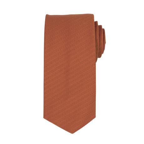 John Lobb // Silk Tie // Chestnut Brown
