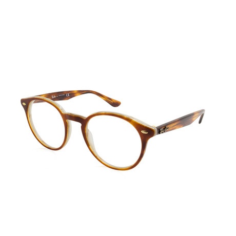 Round Acetate Optical Frame // Top Brown Havana