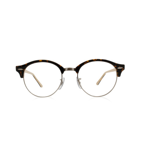 Ray-Ban // Clubround Acetate Optical Frame // Top Havana + Opal Peach