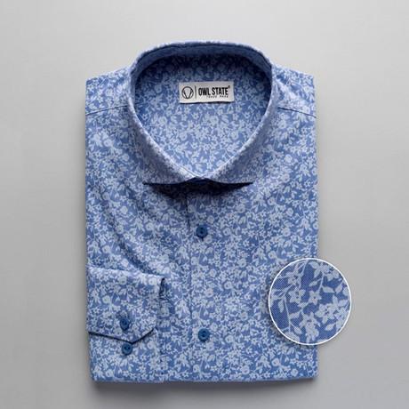 Daniel Patterned Slim Fit Button Up Shirt // Blue (S)