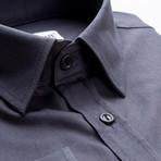 Plain Slim Fit Button-Up // Black (S)
