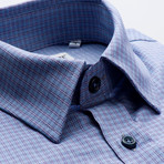 Checkered Regular Fit Button-Up // Pale Blue + Purple (S)