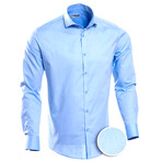 Dotted Slim Fit Button-Up // Blue (L)
