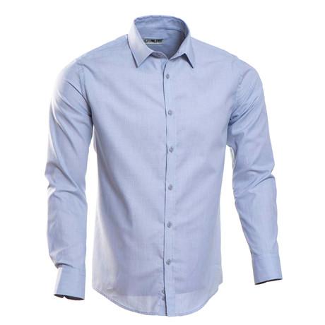 Plain Slim Fit Button-Up // Pale Blue (S)