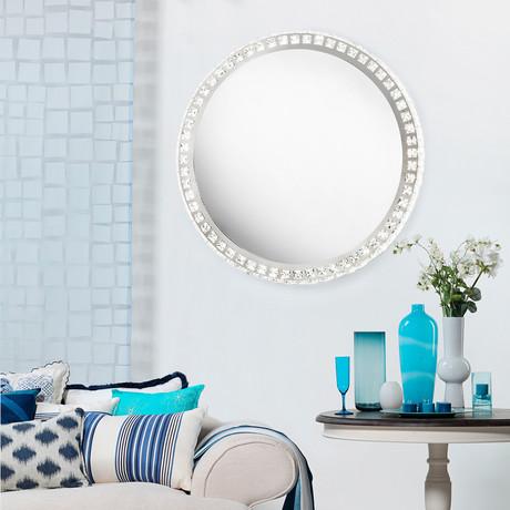 Marilyn Illuminated Mirror Round // Chrome