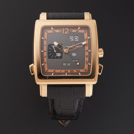 Ulysse Nardin Rose Gold Quadrato Dual Time Automatic // 326-09 // Pre-Owned