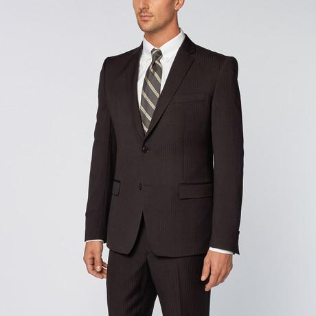 Soft Pinstripe Suit // Black
