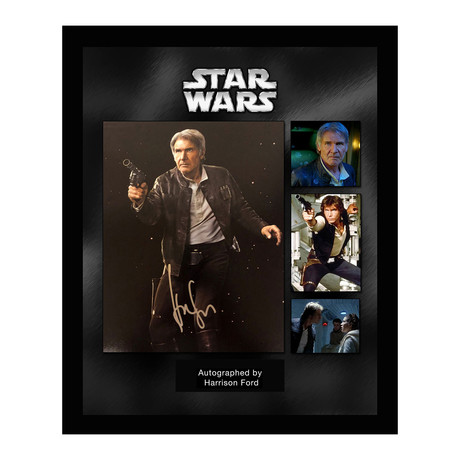 Framed + Autographed Collage // Han Solo