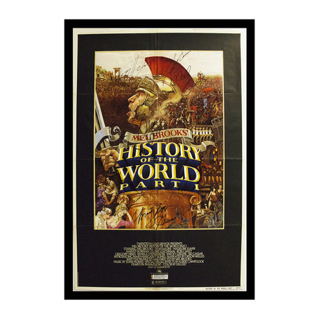 Framed + Autographed Poster // History of the World