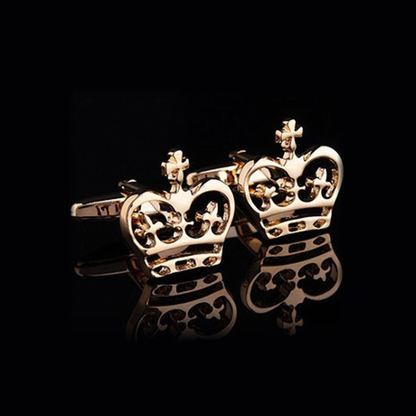 Exclusive Cufflinks Gift Box // Gold Crowns