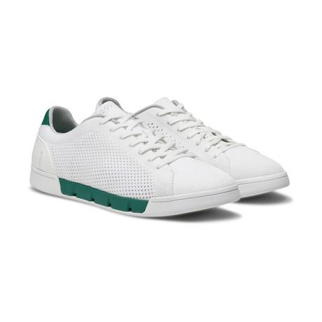 Breeze Tennis Knit Sneaker // White + Court Green (US: 7)