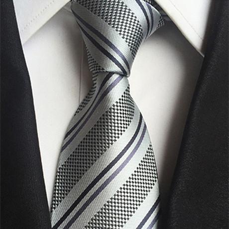 Handmade Neck Tie // Texture Stripe