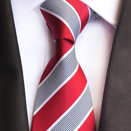 Cody Tie // Red + Gray