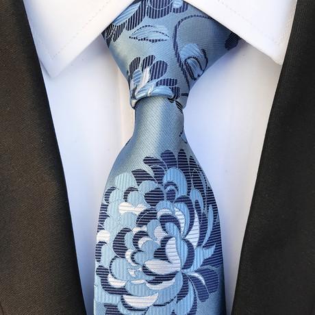 Handmade Neck Tie // Blue Flower