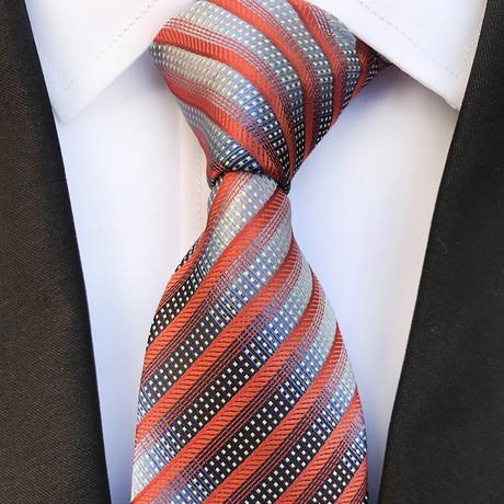 Handmade Neck Tie // Gray + Orange