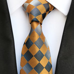 Dupont Tie // Yellow Checkered