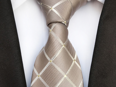 Photo of Blanc Vibrant Silk Ties Handmade Neck Tie // Tan by Touch Of Modern