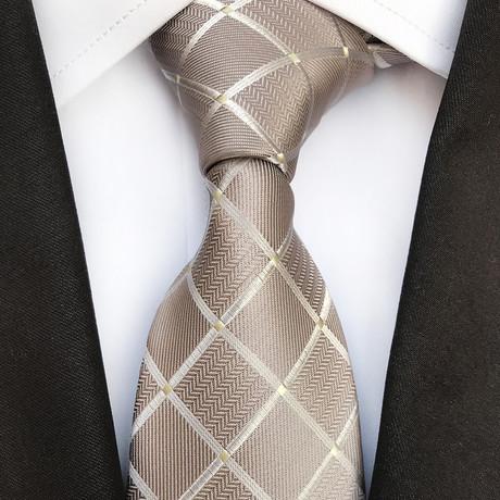Oskar Silk Tie // Tan
