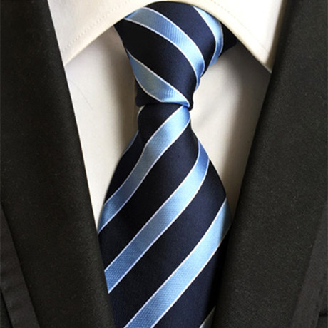 Wayne Silk Tie // Light Blue + Navy