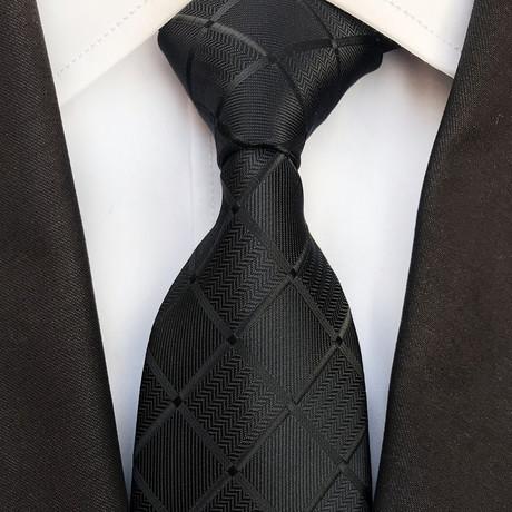 Brennan Silk Tie // Black