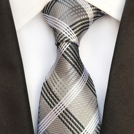 Turner Tie // Gray + White