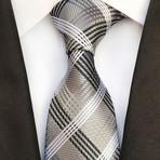 Turner Tie // Gray + White