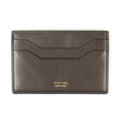 Smooth ID Card Holder Wallet // Brown