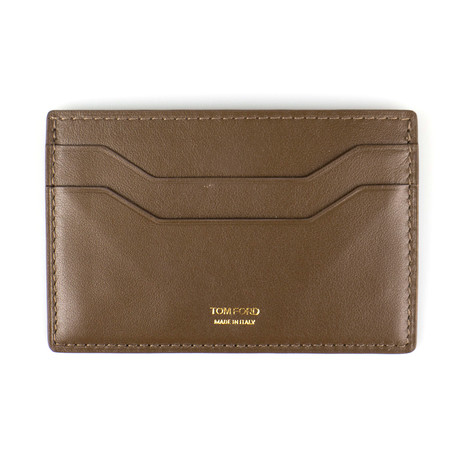Smooth ID Card Holder Wallet // Lion Brown