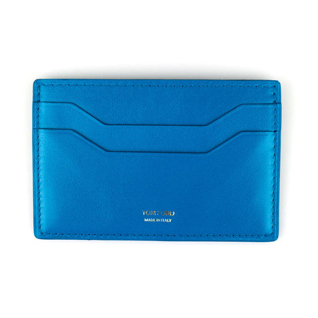 Smooth ID Card Holder Wallet // Deep Sky Blue