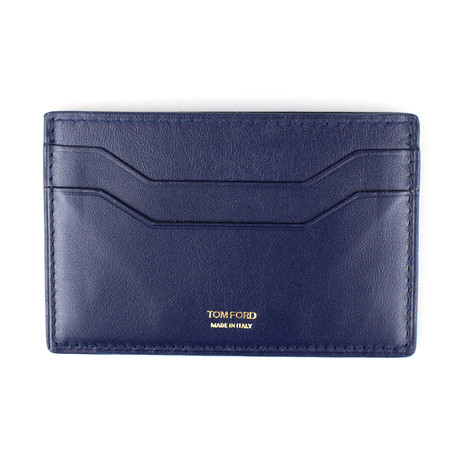 Smooth ID Card Holder Wallet // Yale Blue