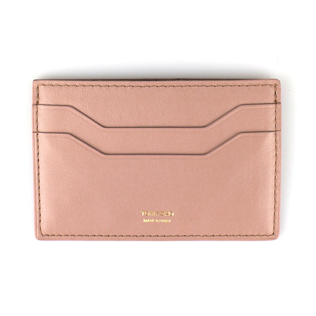 Smooth ID Card Holder Wallet // Desert Sand Brown