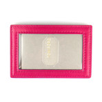 Smooth ID Card Holder Wallet // Ruby Pink