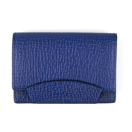 Pebbled Envelope Card Holder Wallet // Sapphire Blue