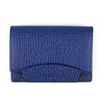 Pebbled Envelope Card Holder Wallet // Sapphire Blue