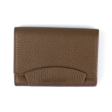 Pebbled Envelope Card Holder Wallet // Lion Brown