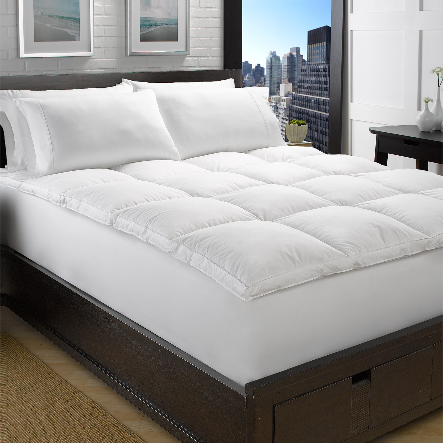 Exquisite Hotel Collection White Goose Down Feather Mattress