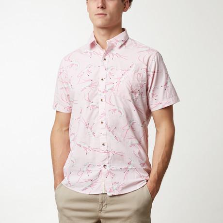Shrimp Printed Shirt // Pink